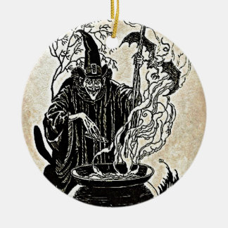 Halloween Witches Cauldron Christmas Ornament