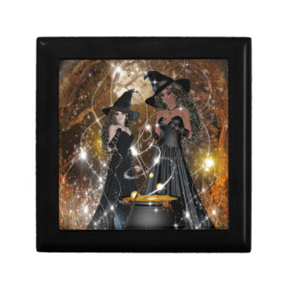 Halloween Witches in Black Gift Box