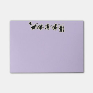Halloween witches post-it notes
