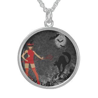 Halloween Witchy Devil Girl Custom Jewelry