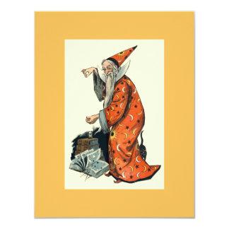 Halloween Wizard 11 Cm X 14 Cm Invitation Card