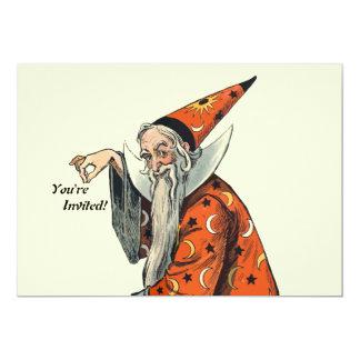 Halloween Wizard 13 Cm X 18 Cm Invitation Card