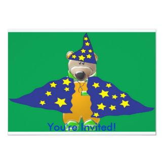 Halloween Wizard Bear Invitation
