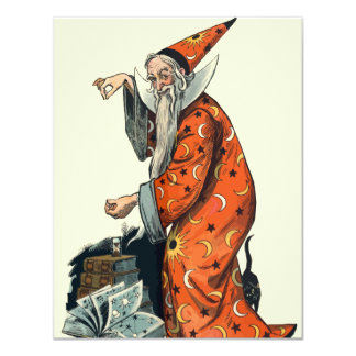 Halloween Wizard Card