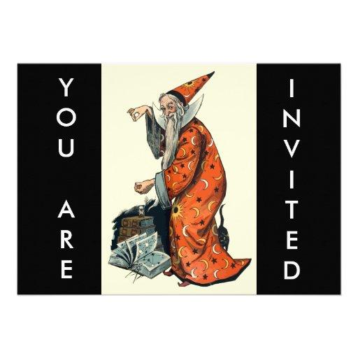 Halloween Wizard Invitation