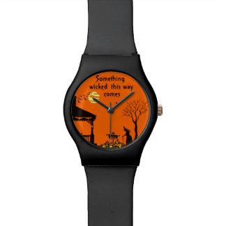Halloween women's wrist watch, witches and J-O-L's Wristwatch
