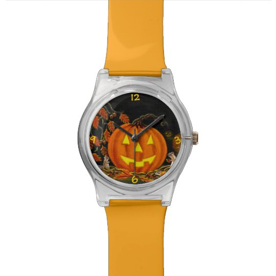 Halloween wrist watch with chipmunks and J-O-L's