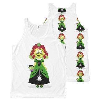 Halloween Yellow Ghoul Girl Tank. All-Over Print Tank Top