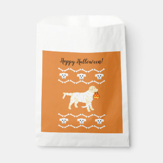 Halloween Yellow Labrador Mummy Favour Bags