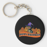 Halloween Yorkie Poo Key Chain