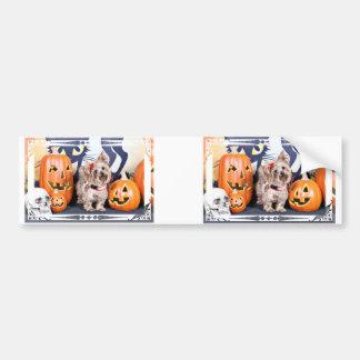 Halloween - Yorkie - Roxy Bumper Sticker