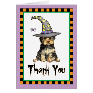 Halloween Yorkie Thank You Card