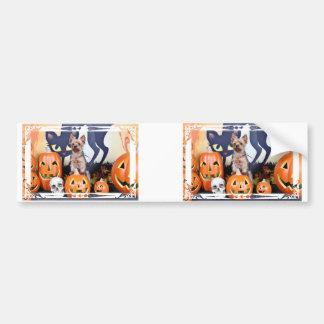 Halloween - Yorkie - Woody Bumper Stickers