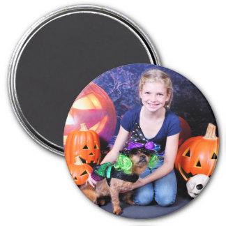 Halloween - YorkiePekeX - Clara Fridge Magnets