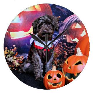 Halloween - YorkiePoo - Cooper Wallclock