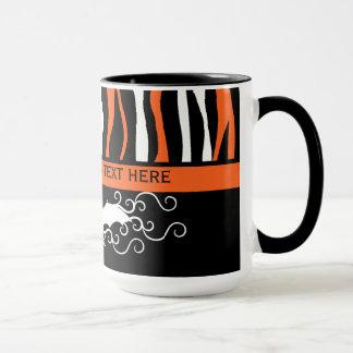 Halloween zebra pattern and bat personalized