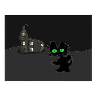 Halloween Zombie Cat Post Card