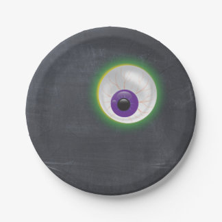Halloween Zombie Ghost Eyeball Eye Cyclops Adult Paper Plate