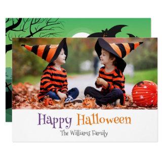 Halloween Zombie Graveyard Family Photo Card