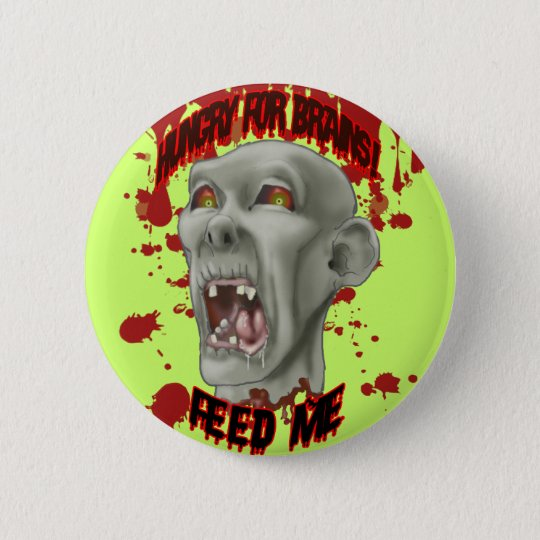 Halloween Zombie Head Button