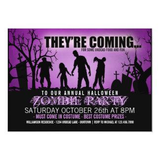 Halloween Zombie Party Invitations
