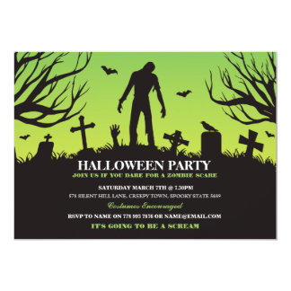 Halloween Zombie Party Spooky Apocalypse Invite