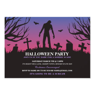 Halloween Zombie Party Undead Apocalypse Invite