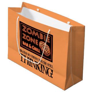 Halloween Zombie Zone Fresh Food Brainz Large Gift Bag