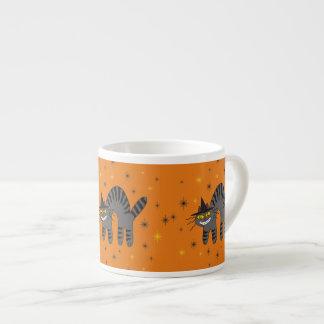 Halloweenish Magical Mr Midnight on Orange Espresso Cup