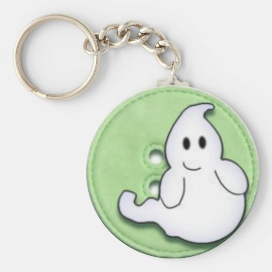 halloweeny basic round button key ring