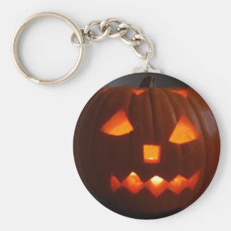Halloweeny man basic round button key ring