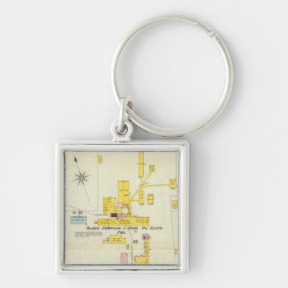 Hallowell, Kennebec County, and Maine 2 Key Ring
