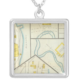 Hallowell, Kennebec County, and Maine 3 Silver Plated Necklace