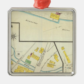 Hallowell, Kennebec County, and Maine 4 Christmas Ornament