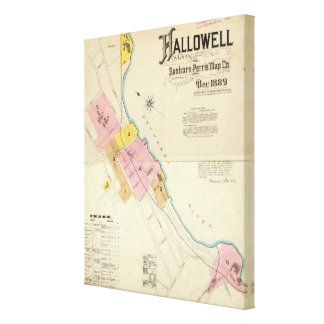 Hallowell, Kennebec County, and Maine Canvas Print