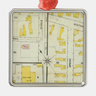 Hallowell, Kennebec County, and Maine Christmas Ornament