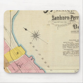 Hallowell, Kennebec County, and Maine Mouse Mat