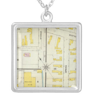 Hallowell, Kennebec County, and Maine Silver Plated Necklace