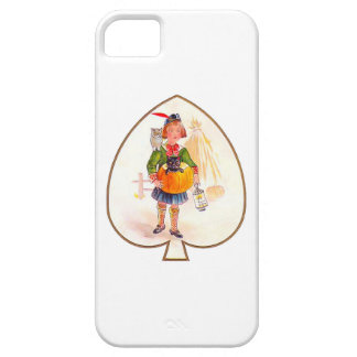Hallowen Boy with Pumpkin Cat iPhone 5 Cover