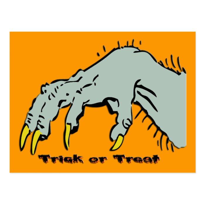 Hallowen Creepy Hand Postcard