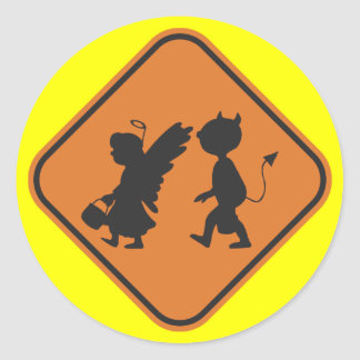 Hallowing Crossing Round Sticker