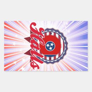 Halls, TN Rectangular Sticker