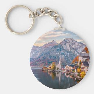 Hallstatt, Austria Basic Round Button Key Ring