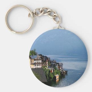 Hallstatt Austria Basic Round Button Key Ring