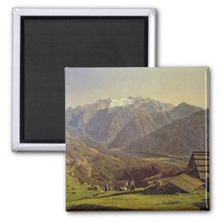 Hallstatter-See (oil on canvas) Square Magnet