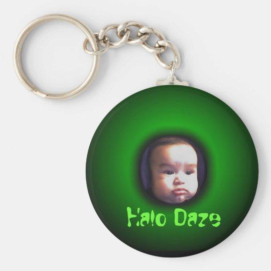 Halo-ed out, Halo Daze Basic Round Button Key Ring