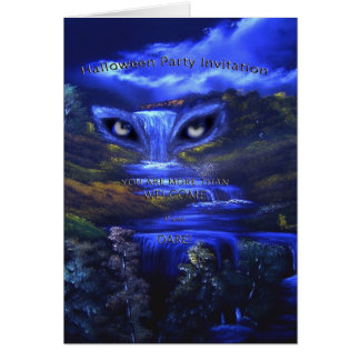 Haloween Party Invitation Greeting Card