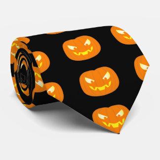 haloween pumpkin tie