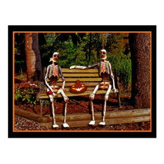 Haloween Skeletons Postcard