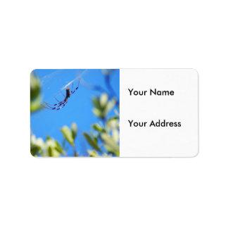Haloween Spider Address Label